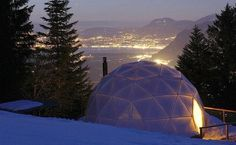 Igloo hotel in Switzerland