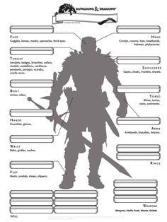 D&D 5e Alternate Inventory Page from epiclevelgaming.com | Don't play…