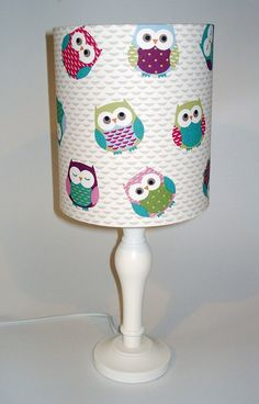 Owls nursery lampshade in ceiling or by TheFunkyNurseryshop