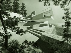Howard Roark - Architect  (yes this is only a model used in the film; The Fountainhead)