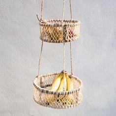 Handmade Hanging Sun Basket at General Store Hanging Sun Basket Diy And Crafts, Arts And Crafts, Macrame Plant Hangers, Macrame Projects, Hanging Baskets, Paracord, Basket Weaving, Diy Gifts, Lana