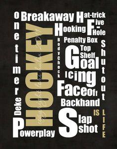 Digital: Hockey Typography