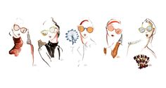 Illustrations for Fendi x WhoWhatWearfeature Fendi Paradeyes