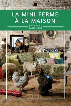 #ferme #poules #mouton #lapin #animaux Photos Originales, Garden Sculpture, Colette, Outdoor Decor, Blog, Minis, Small Animals, Hens, Sheep