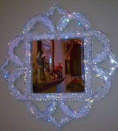 Items similar to Arabian Nights Swarovski Crystal Mirror on Etsy Glitter Bedroom, Sparkles Glitter, Glitter Floor, Glitter Mirror, Glitter Glue, Glitter Paint, Arabian Nights, Beauty Room, Diy Home Decor