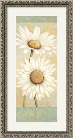 Beautiful Daisies I Framed Print by Daphne Brissonnet Framed by Amanti Art, http://www.amazon.com/dp/B007PP0EXQ/ref=cm_sw_r_pi_dp_1U5lrb0RHT7F0