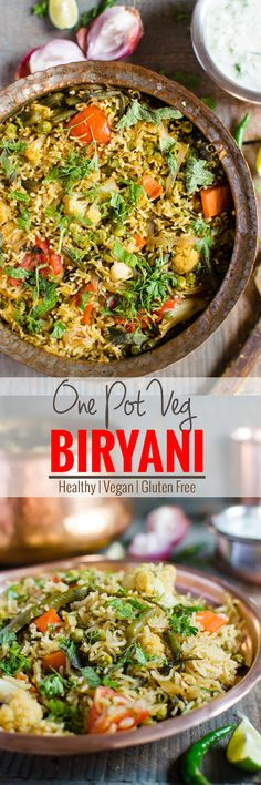Vegetable biryani is