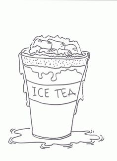 Drinking Ice Cold Juice  Drinks Coloring Pages  Pinterest  Ice