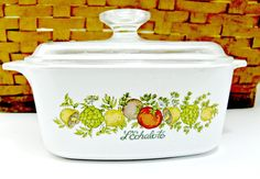 Corning Ware Casserole Covered Dish  Spice of by EitherOrFinds
