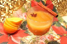 Jus d'orange chaud aux épices et au miel