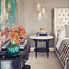 #inspiration #inspirationbedroom #bedroominspiration #contemporary #contemporarybedroom #interiordesign #bedroom #leatherheadboard #tuftedheadboard #turquoise #beige #artframe #design #lovedesign #designer #freelancer #followme #likeforlike #likelike by danamurad937