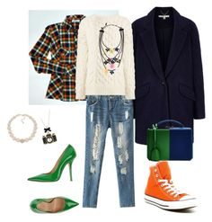 """Untitled #30"" by ann-ladan on Polyvore featuring Fiorangelo, Converse, Uttam Boutique, Carolee, Betsey Johnson, Joseph, Mark Cross and Erickson Beamon"
