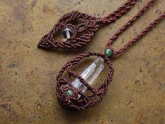 colombianquartz & emerald pendant