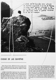 Panel del proyecto de La Ciudad de las Gaviotas por Fernando Higueras. Exposición Fernando Higueras. Canarias y Las Salinas en CentroCentro Madrid. Fotografía © Leonor Martín / METALOCUS.