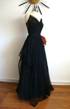 1940's vintage gown. Sure, why not...