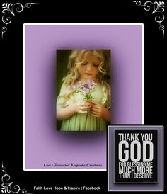 Lisa's Treasured Keepsake Creations~  Faith Love Hope & Inspire | Facebook https://www.facebook.com/Inspired69AngelsForFaithLoveandHope/