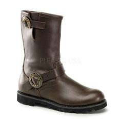 $144 Military Steampunk Boots! Neo-victorian and Military inspired brass hardware steampunk boots!