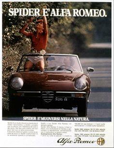alfa romeo spider -retro ad
