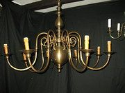 Flemish Chandelier. Brass. Belgian. very good condition. c1920
