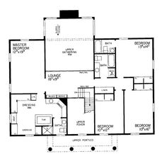 HW-2898 2nd floor - I really with the gathering room was only one story, and then the 2nd floor space could be used as a loft playroom. The 4 bedrooms are nice. The master bath/dressing room is interesting.