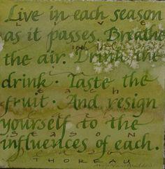 ~Henry David Thoreau