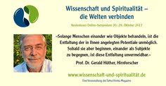 Prof. Dr. Gerald Hüther - Wissenschaft und Spiritualität - das Online-Symposium