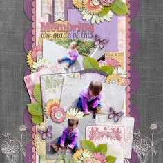 Credit: Hydrangea Blossom Collection by Kimeric Kreations and  August SO Template Challenge by Little Green Frog Designs