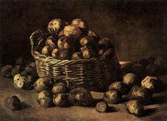 Basket of PotatoesbyVincent van Gogh   Size: 44.5x60 cm Medium: oil on canvas