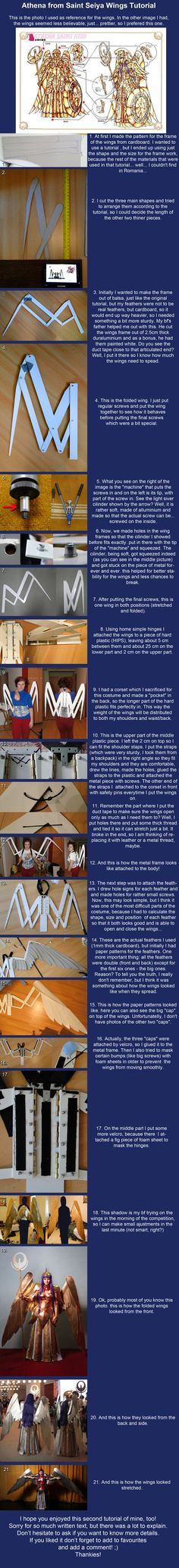 SPN FANDOM COSPLAY WINGS  Athena Saint Seiya Wings Tutorial by *ShinjusWorkshop on deviantART