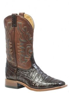 88547135c90 Boulet Men s Boots - Caiman Belly Brown   Ranch Hand Tan Western Wear  Stores