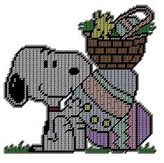 SNOOPY & WOODSTOCK EASTER WALL HANGING