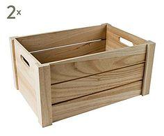 CASA VIVA: Set de 2 cajas de madera