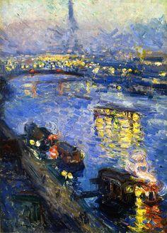 artishardgr:  Othon Friesz - The Pont de Grenelle, Paris 1901