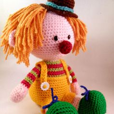 Casimier the Clown amigurumi crochet pattern by Pii_Chii