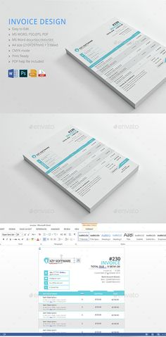 Invoice Template PSD. Download here: http://graphicriver.net/item/invoice/15015885?ref=ksioks