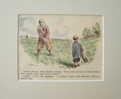 Karikatur °Golfspiel° Original 1930 Golf von Sammel-Leidenschaft auf DaWanda.com