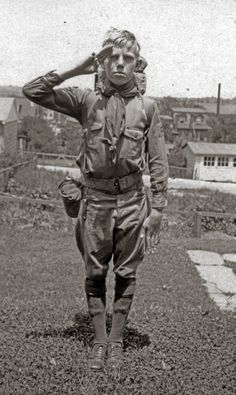 Boy Scout back in 'the day'.