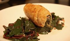 Chicken with Goat Cheese and Arugula