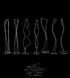 Sketches of Artemide light by Karim Rashid http://on.fb.me/1uAvU5x