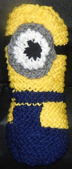 Loom knitted minion toy by Malissa W.