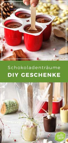 Three DIY chocolate gifts for Christmas with recipes and instructions No . - Three DIY chocolate gifts for Christmas with recipes and instructions No gift ideas for a little so - Homemade Chocolate Bars, Chocolate Gifts, Cooking Box, Christmas Gift Inspiration, Diy Pinterest, Inspirational Gifts, Diy Paper, Origami Paper, No Cook Meals