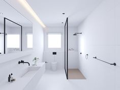 Tagged: Bath Room, Tile Counter, and Laminate Counter. Photo 418 of 1517 in Best Bath Photos from AT | Wohnung. Browse inspirational photos of modern bathrooms. Explore sinks, bathtubs, and showers, creative tile designs, and a variety of counter and flooring ideas.