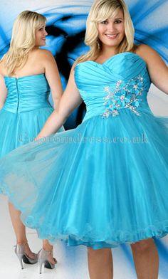 345607d2d9b Plus Size Cocktail Dresses-Flower Sweetheart Short Strapless Beaded Blue  Plus Size Cocktail Dresses