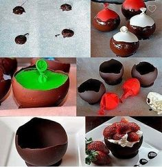 DYI chocolate bowls