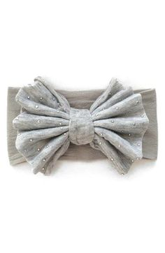 Baby+Bling+Studded+Bow+Headband+(Baby+Girls)+available+at+#Nordstrom