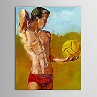 Hand-Painted+People+One+Panel+Canvas+Oil+Painting+For+Home+Decoration+–+AUD+$+131.55