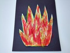 pentecost flame hat template