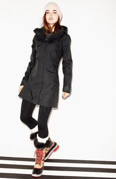 Patagonia Parka, Zella Leggings & Halogen® Sweater  available at #Nordstrom