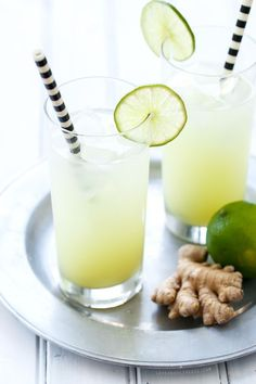 Fresh Ginger-Lime Tonic - A super spicy and refreshing mocktail (or, you know, add some gin... I won't judge you!)