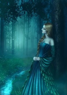 Misty Forest by Esmira on DeviantArt Fantasy World, Fantasy Art, Gypsy Moon, Chica Fantasy, Misty Forest, Shades Of Teal, Fantasy Paintings, Deviant Art, Fantasy Characters